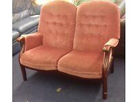 2 Seater Pink Renaissance Sofa
