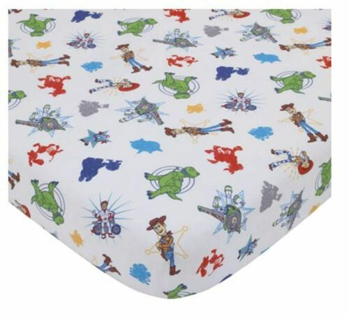 Fitted Sheet (ONLY) Toddler Size 28 x 52 Toy Story 4 Woody And Friends NEW
