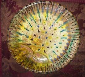 Italian hand painted large ceramic bowl