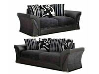 ☀️☀️BRAND NEW☀️☀️-SHANNON SOFA FABRIC & FAUX LEATHER LEFT / RIGHT CORNER/3+2 SEATER-CALL NOW