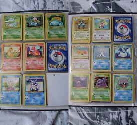 Pokemon cards - incomplete base, jungle, fossil set.