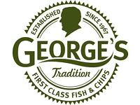 *NEW!*Part Time Bar Tender Required at George's Great British Kitchen!