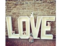 4ft LOVE Letter Hire