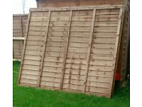 Brand new fence panels