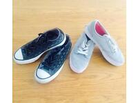 Girls Size 4 Converse & Vans