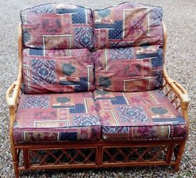 Two Seater Cane Sofa