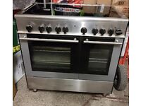 Kenwood CK408 double oven ceramic cooker - excellent condition