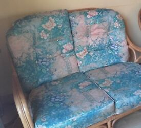 2 Seater Solid and sturdy wicker conservatory sofa