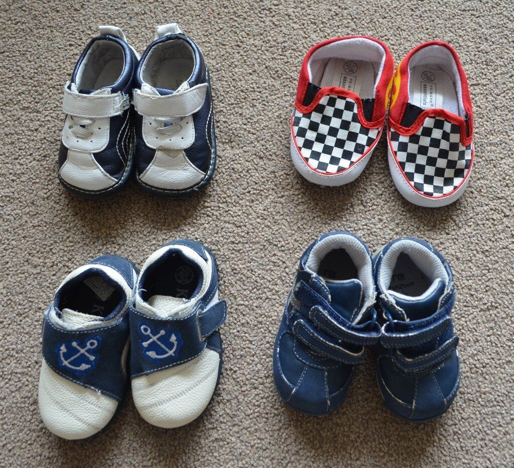 Baby boy shoes boots 9-12 months, size 3 and 3.5