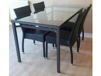 Ikea GRANAS dining table and four chairs. Delivery available