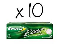 10 Packs of 10 Berocca Boost Vitamins, Minerals & Guarana for that Energy Boost