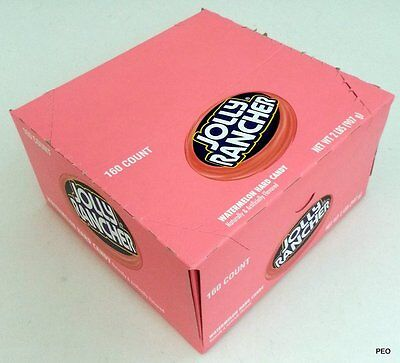 Jolly Rancher Watermelon Hard Candy 160 Count Box Free Shipping Bulk Candies](Halloween Watermelon)