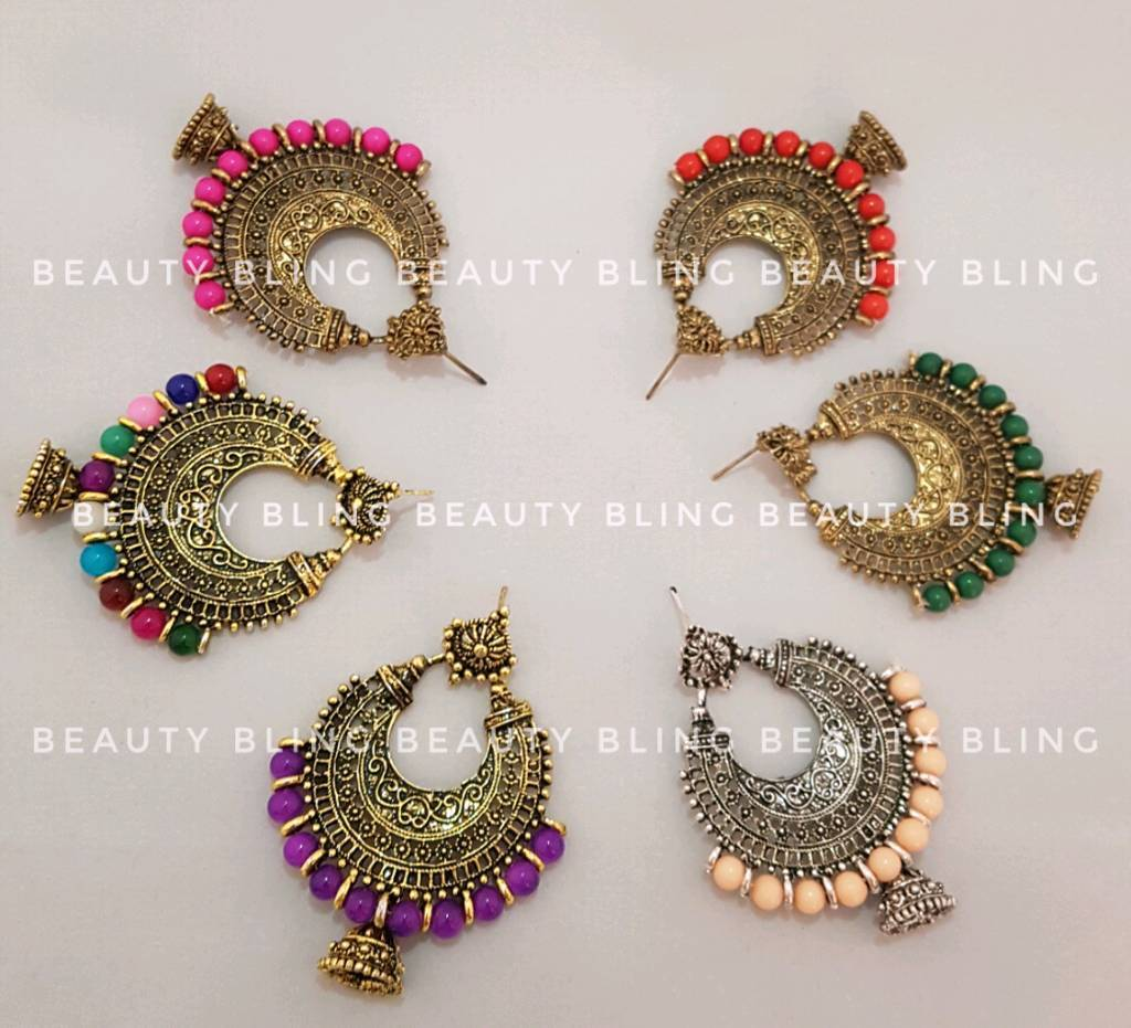 Vibrant Indian earrings. FREE UK DELIVERY