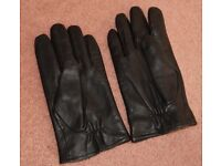 M&S Men's Black Gloves in Real Leather. Large size. Unused. Excellent condition.