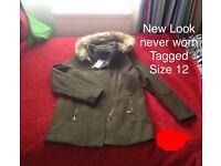 New Look coat size 12