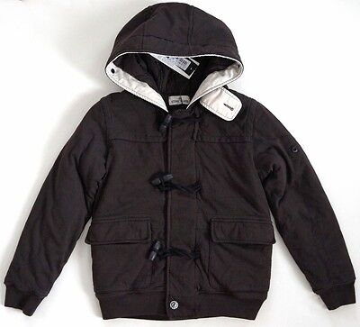NWT STONE ISLAND JUNIOR Brown Hooded TOGGLE DUFFLE COAT Jacket 10 ITALY