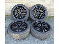 "18"" alloy wheels tyres 5x114.3 Nissan Skyline R33 GTT 350z 300zx Lexus IS250"