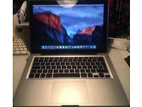 "MacBook Pro 13"" 500GB HDD, 8GB RAM, Core 2 Duo."