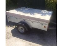 "Galvanised 6ft x 4ft 2"" Caddy trailer + cover"