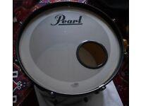 Custom Skin Pearl Target Rock Size Drum Kit