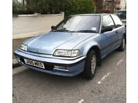 Honda, CIVIC, Hatchback, 1991, Automatic, 1396 (cc), 3 doors