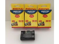 4 Replacement Batteries LP-E6 for EOS 60D 5D2 5D3 7D 6D