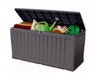 Keter Wood Effect Plastic Garden Outdoor Storage Box Small/Medium/Large