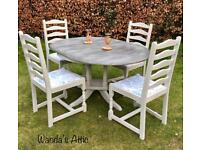 Hand Painted Dining Table and 4 chairs