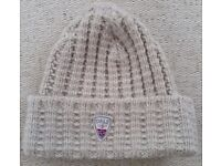 DALE OF NORWAY - WOOL HAT - CREAM - ONE SIZE - RRP £54