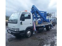 CHERRY PICKER ACCESS PLATFORM HIRE inc OPERATOR HIRE MANCHESTER WIGAN LIVERPOOL WARRINGTON BOLTON