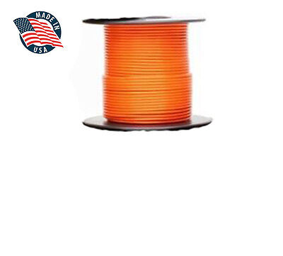 100ft Milspec High Temperature Wire Cable 22 Gauge Orange Tefzel M2275916-22-3