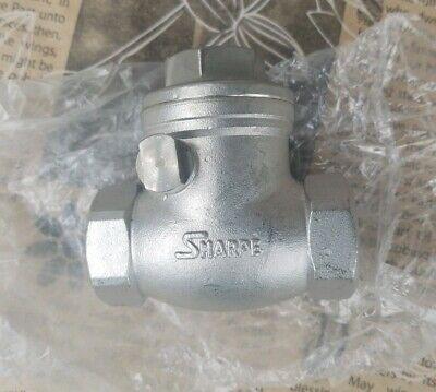 Sharpe 20276 1 316 Stainless Steel Swing Check Valve Threaded Fitting 200 - Nos