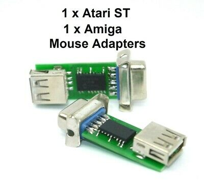 Atari ST Amiga PC Mouse Adapters Twin Pack - Two Adapters