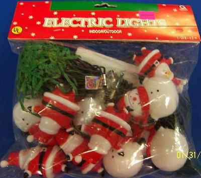Santa & Snowman Winter Christmas Holiday Theme Party Decoration Electric Lights - Christmas Theme Party Decorations