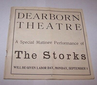 SUMMER 1901-02 PROGRAM-DEARBORN THEATRE-CHICAGO ILLINOIS-THE STORK-GREAT ADS