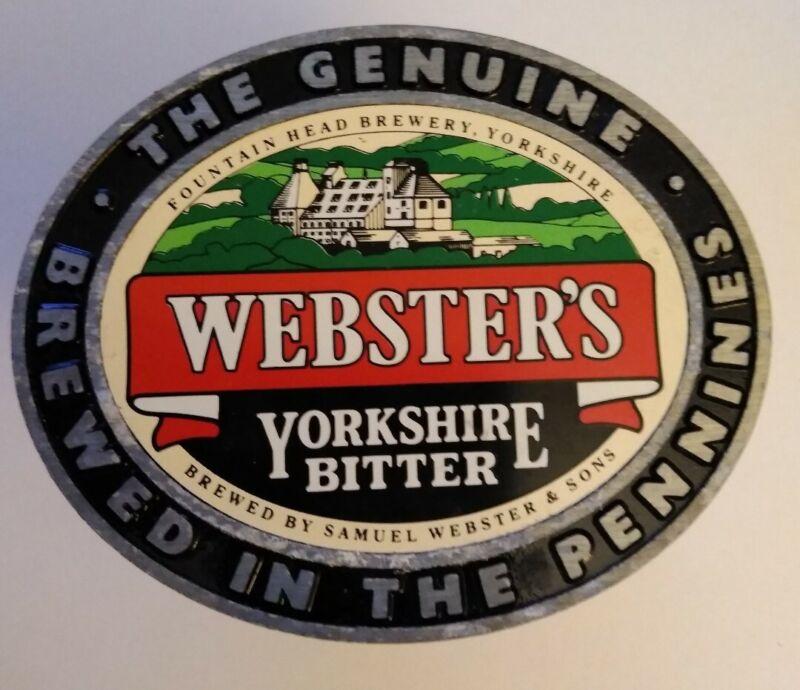 Vintage Pump Clip Badge Webster