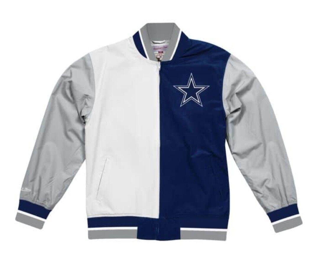 Details about Authentic Dallas Cowboys Super Bowl 5X Champ NFL Mitchell    Ness Warm up Jacket d342bd492