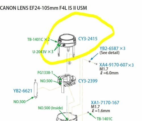 Canon EF 24-105mm F/4 4.0 L IS USM II 2 Lens 5th Group Ass