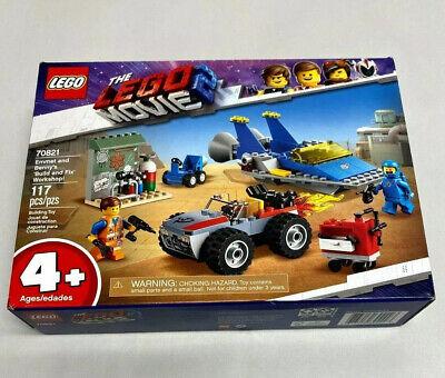 NIB LEGO The Movie 2 Emmet & Benny Build & Fix Workshop Set 70821 Car Plane