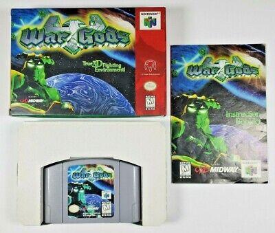 War Gods (Nintendo 64 N64) Complete in Box CIB manual game box