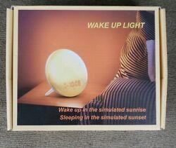 Wake Up Light Alarm Clock Sunrise Simulation Alarm Clock With Sleep Aid Feature