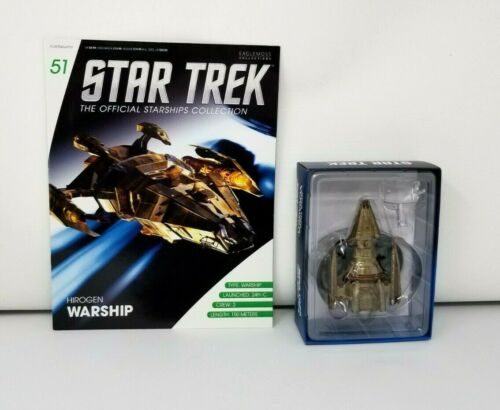 Eaglemoss Star Trek Official Starship Collection Hirogen Warship w/ Book New