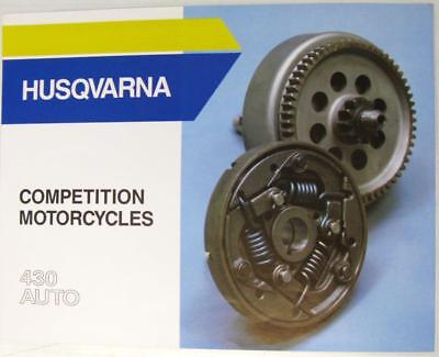 HUSQVARNA Competition Motorcycles 430 Auto Original Motorcycle Sales Brochure