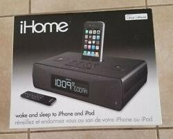 iHome iP87 Stereo iPhone/iPod Docking Station Dual Alarm Clock Radio Stereo NIB!
