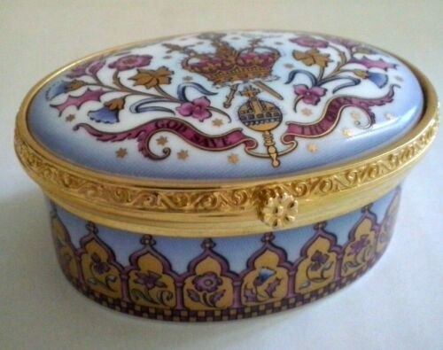 THE ROYAL COLLECTION Trinket Box Commemorating 50th Anniversary of Coronation