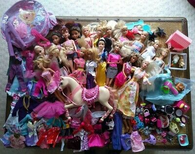 Large Barbie Bundle Including Clothes And Accessories
