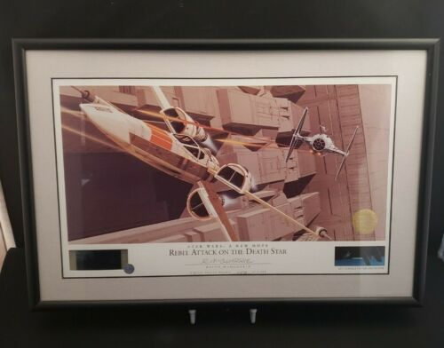 Star Wars: Rebel Attack Seri-Cell Print signed by Ralph McQuarrie