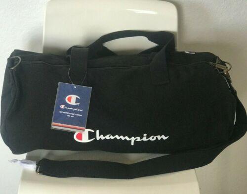 NWT Champion The Shuffle 2.0 Duffel Gym Travel Bag Black Logo