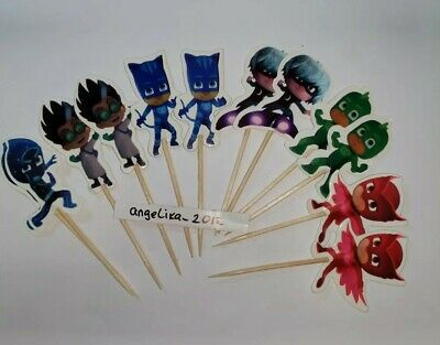 12 x MASK Cake Picks / Cupcake Toppers Birthday Party Cake - Masquerade Cupcake Picks