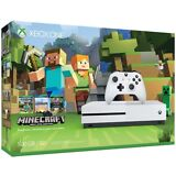 New Microsoft Xbox One S 500GB White Console with Minecraft Favorites Bundle